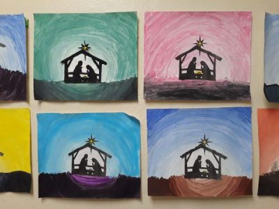 6th Watercolor Silhouettes